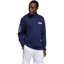 Adidas Men's USA Golf Lightweight Layering Half-Zip Pullover