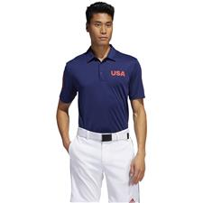 Adidas Dark Blue USA Golf Polo