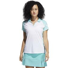 Adidas Medium Ultimate Print Short Sleeve Polo for Women