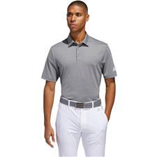 Adidas Grey Three-White Ultimate365 Heather Polo