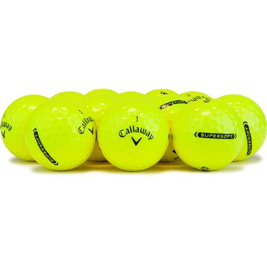 Callaway Golf Supersoft Yellow Golf Balls - 2021 Model