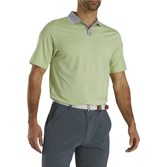FootJoy Men's Lisle Mini Stripe Knit Collar Polo