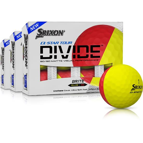 Srixon Q-Star Tour Divide Golf Balls - Buy 2 Get 1 Free