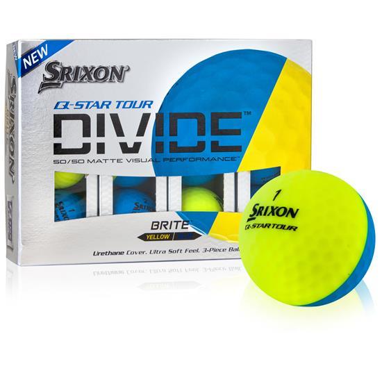 Srixon Q-Star Tour Divide Yellow/Blue Golf Balls