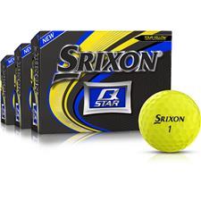 Srixon Q-Star Yellow Golf Balls - Buy 2 DZ Get 1 DZ Free