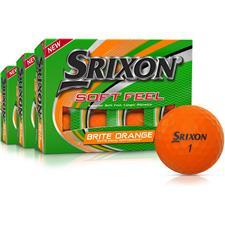 Srixon Soft Feel 2 Brite Orange Golf Balls - Buy 2 Get 1