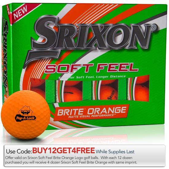 Srixon Soft Feel 2 Brite Orange Golf Balls