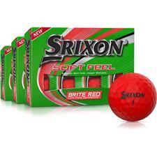 Srixon Soft Feel 2 Brite Red Golf Balls - Buy 2 Get 1