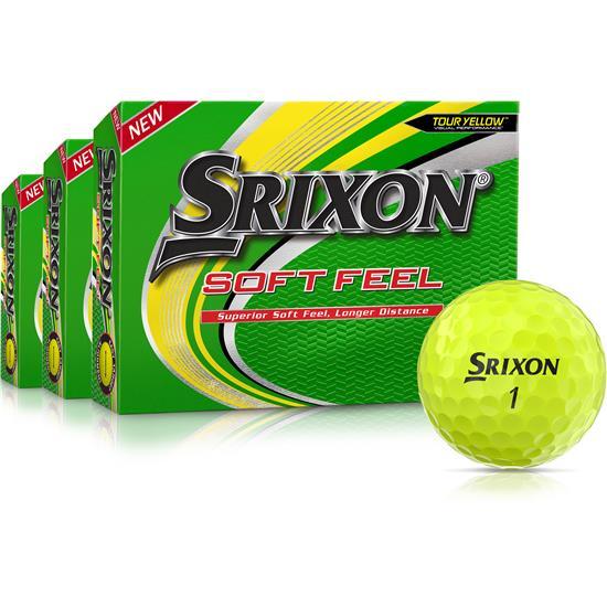 Srixon Soft Feel Yellow 12 Golf Balls - Buy 2 Get 1 Free