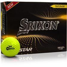 Srixon Custom Logo Z-Star 7 Yellow Golf Balls - 2021 Model