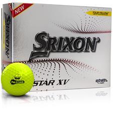 Srixon Custom Logo Z-Star XV 7 Yellow Golf Balls - 2021 Model