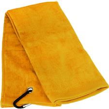 Tri-Fold Personalized Golf Towel - Golden
