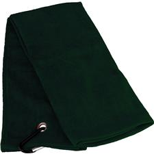 Tri-Fold Personalized Golf Towel - Hunter Green