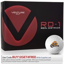 Venture Golf RD-1 Custom Express Logo Golf Balls