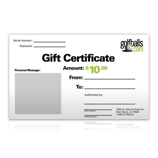 Golfballs.com Instant Gift Certificate