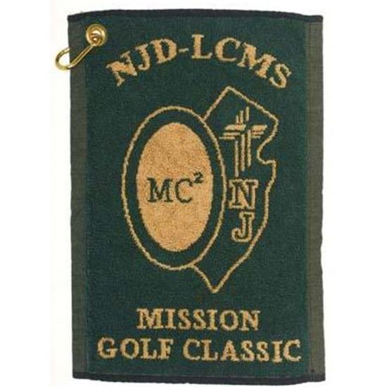 Logo Golf Hand Woven Jacquard Towel