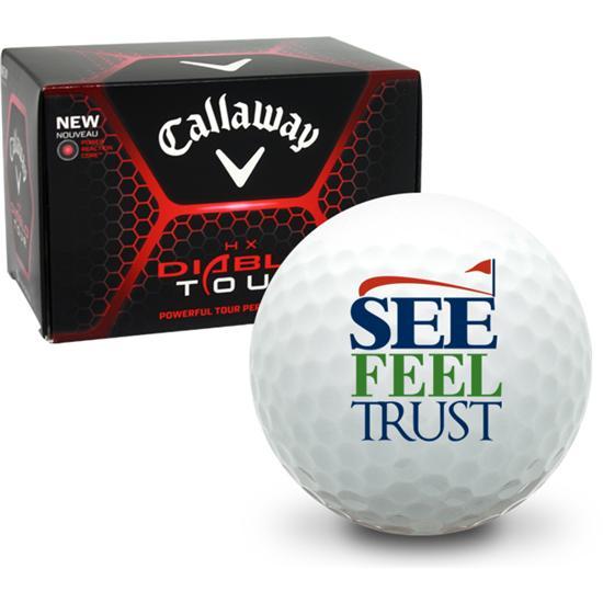 Callaway Golf HX Diablo Tour See Feel Trust Logo Golf Balls