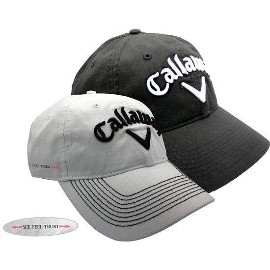 Callaway Golf Men's Linear See Feel Trust Tour Lo-Pro Logo Golf Hat