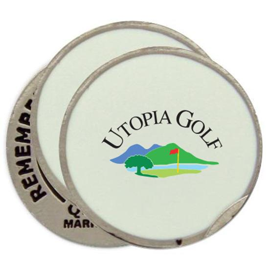 Classic Utopia Golf Logo Ball Markers