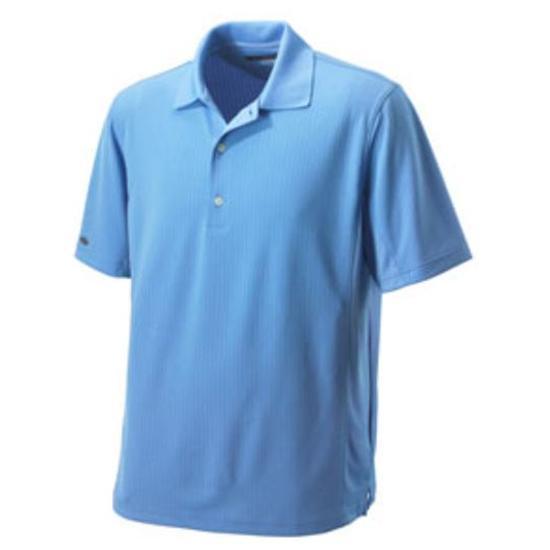 Greg Norman Men's Pieced Tonal Logo Jacquard Polo