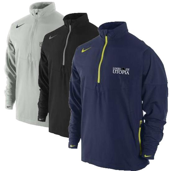 Nike Men's Sport Half Zip Links of Utopia Logo Windshirt