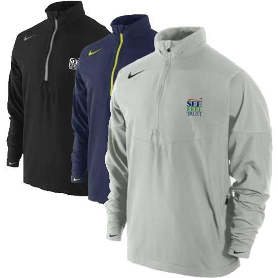 Nike Men's Sport Half Zip See Feel Trust SFT Logo Windshirt