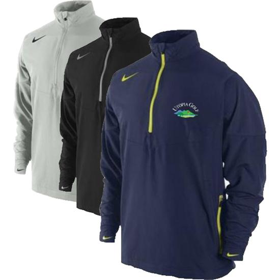 Nike Men's Sport Half Zip Utopia Golf Logo Windshirt