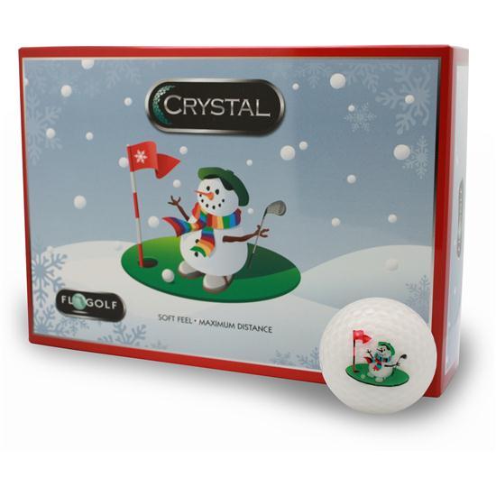 FL Golf Crystal Golf Balls - Snowman Logo