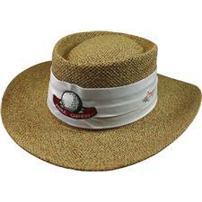 Greg Norman Custom Logo Custom Logo Cresting Straw Hat