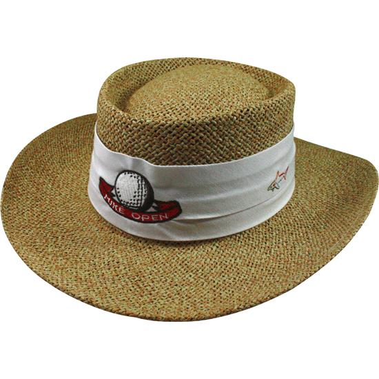 Greg Norman Men S Custom Logo Cresting Straw Hat Golfballs Com