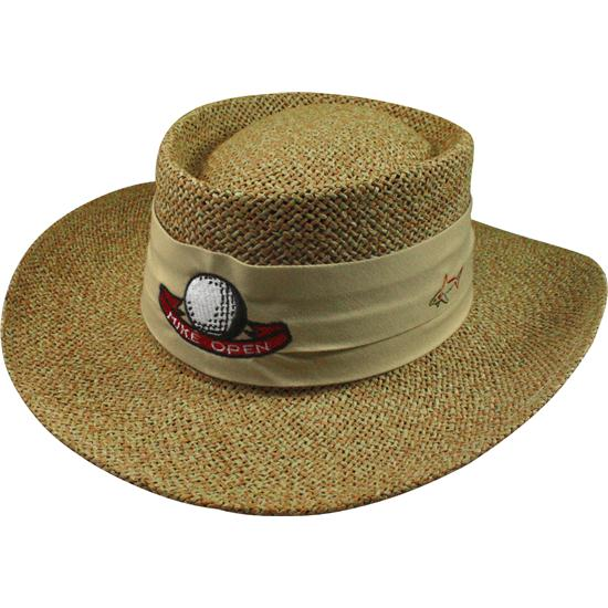 Greg Norman Men's Custom Logo Cresting Straw Hat