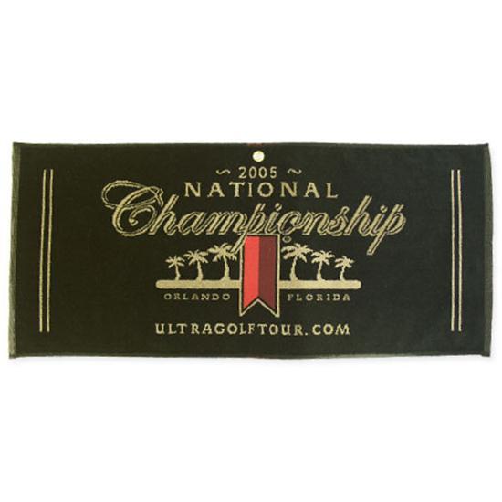 Logo Golf Woven Cotton Towel- Caddy