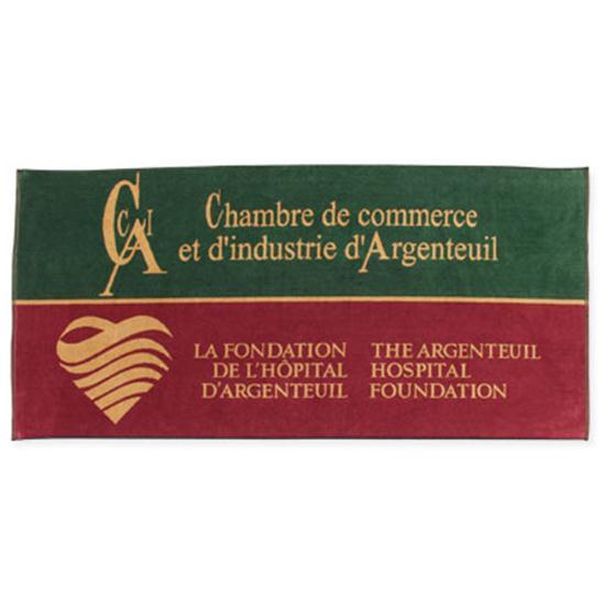 Logo Golf Woven Performance Towel- Beach Towel