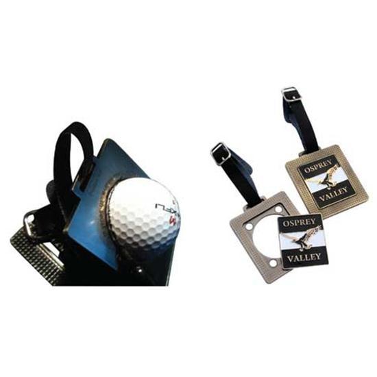 Logo Golf ProMark 168 DuraFlex Bag Tag w/ Putt Line Stencil