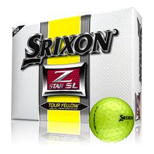 Srixon Z Star SL Tour Yellow Personalized Golf Balls