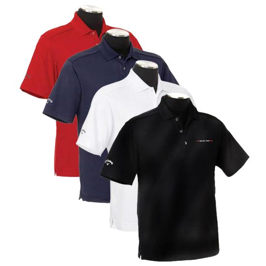 Callaway Golf Men's Chev Polo Linear See Feel Trust Logo Polo