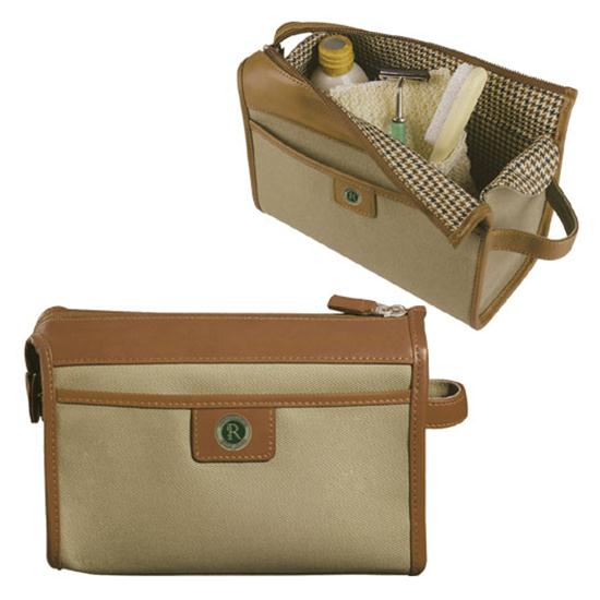 Logo Golf Canvas Shave & Utility Case