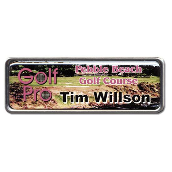 Logo Golf Color Magic Name Badge