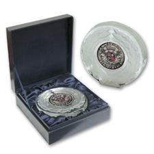 Logo Golf Crystal Wreath Medallion Award
