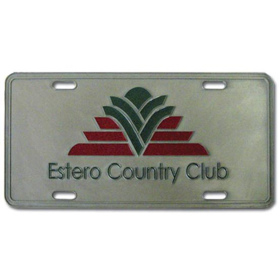 Logo Golf Die Cast License Plate