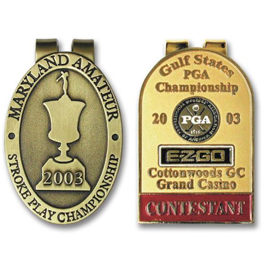 Logo Golf Die Struck Custom Money Clip