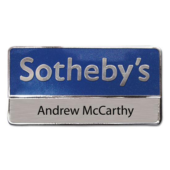 Logo Golf Die Struck Name Badges
