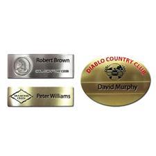 Logo Golf Etched Name Badges