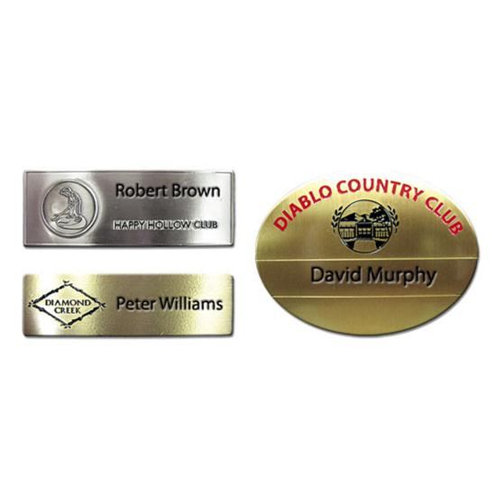 Logo Golf Etched Name Badges