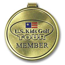 Logo Golf Etched Round Money Clip