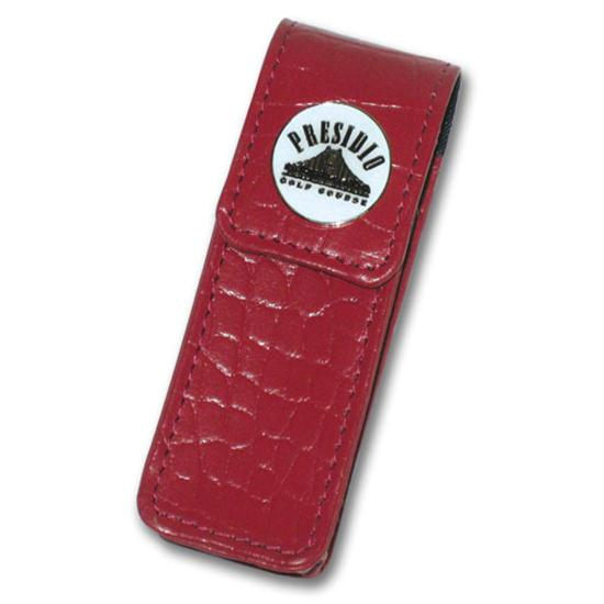 Logo Golf Genuine Leather Lipstick Case