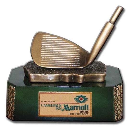 Logo Golf Iron Clubhead Golf Award