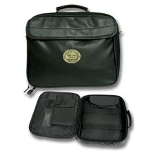 Logo Golf Leatherette Computer Bag - Black