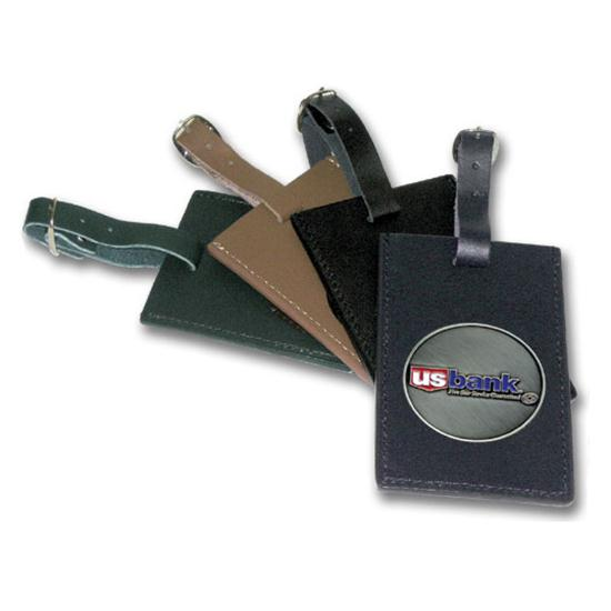 Logo Golf Leatherette Luggage Tag