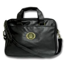 Logo Golf Leatherette Portfolio Bag - Black